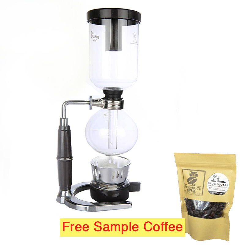 Coffee Maker Cup Size : Moonbuck M-SBC01 3-cup size siphon coffee maker + Coffee Sample Tekkashop