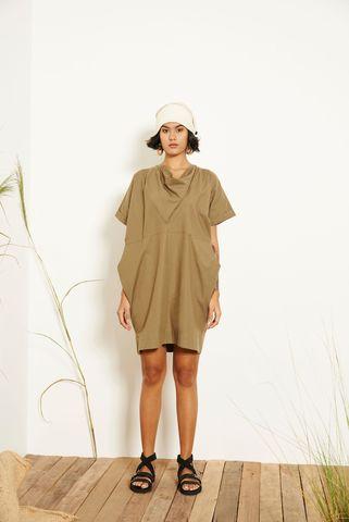 Kio_Drape_Dress_Green_1