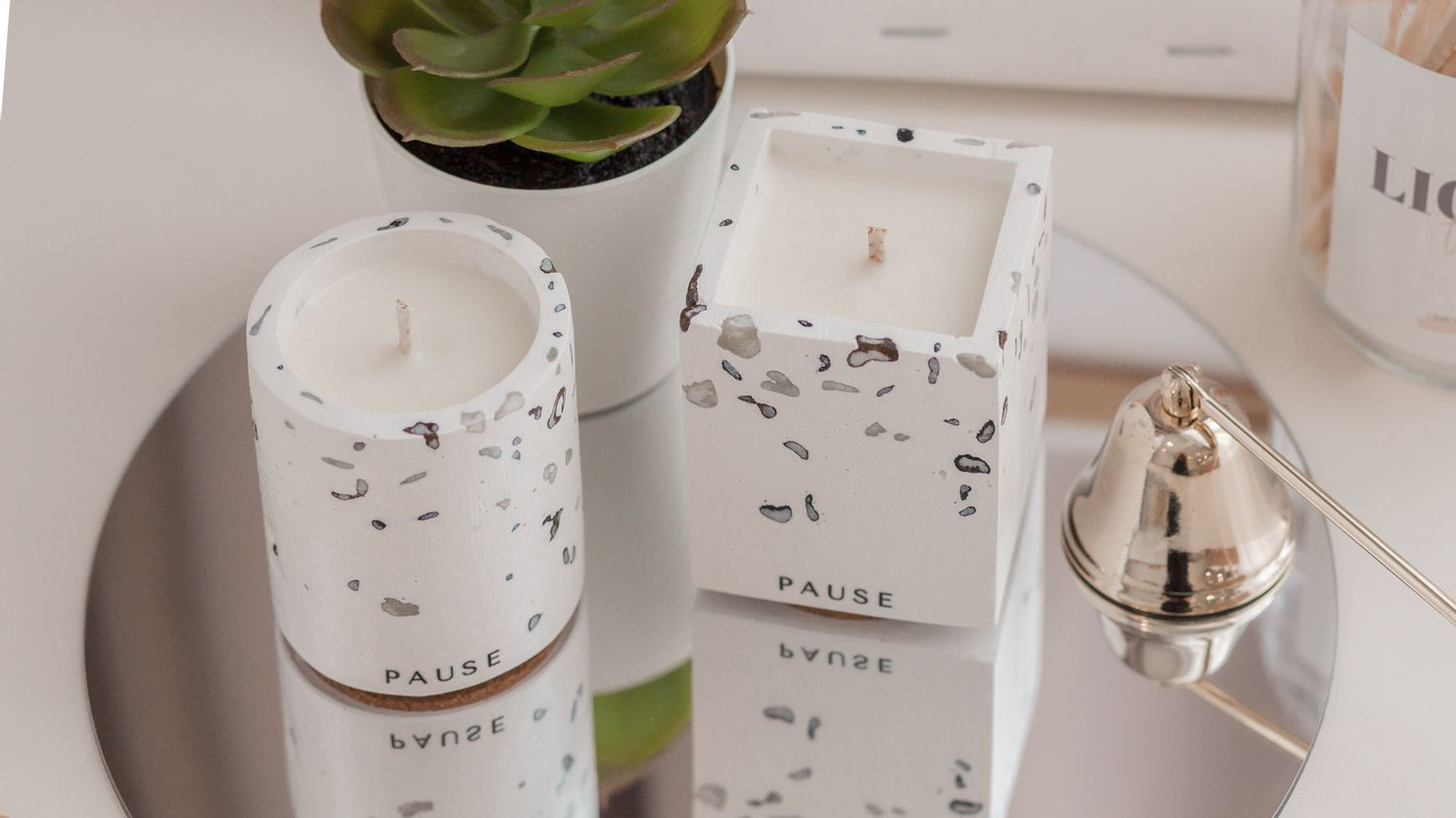 PAUSE soap & candle | THE PEBBLES