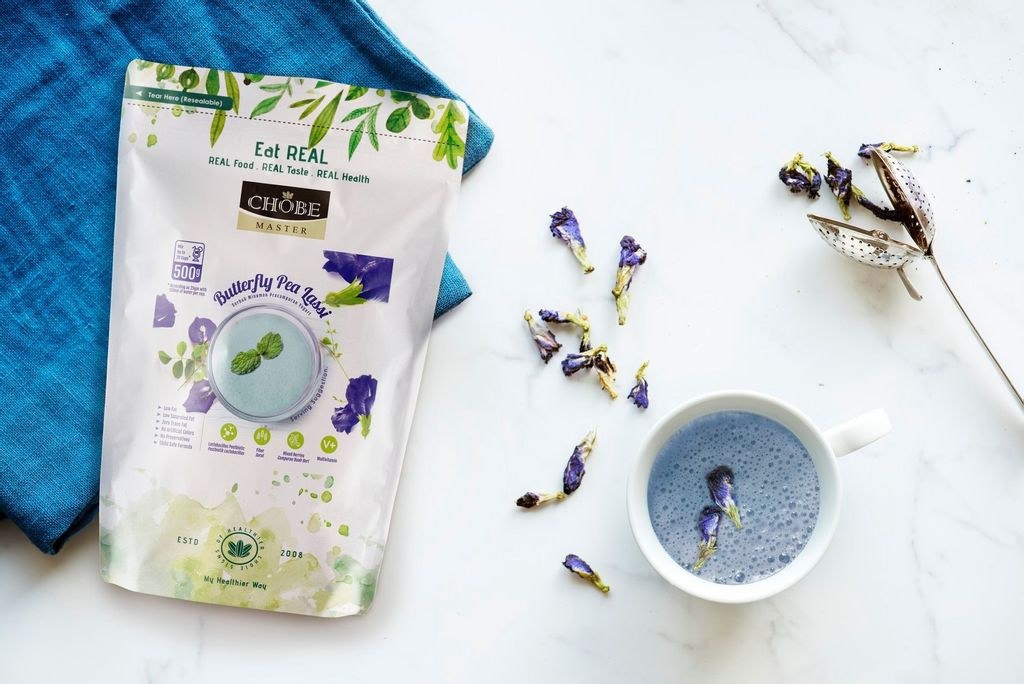 What is Chobe Master Butterfly Pea Lassi?