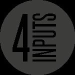 4 simultaneous inputs