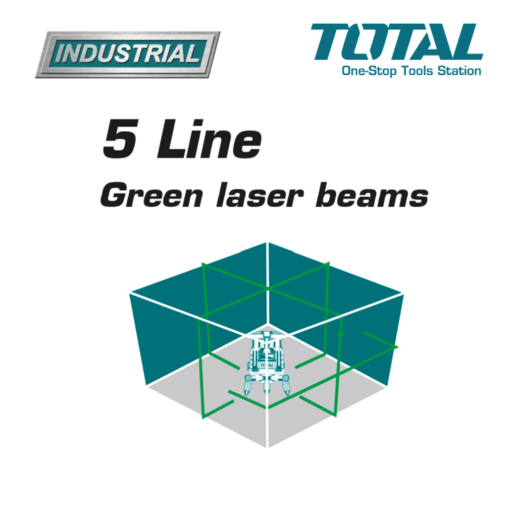 TOTAL Self Leveling Line Laser 5 line green feature.png