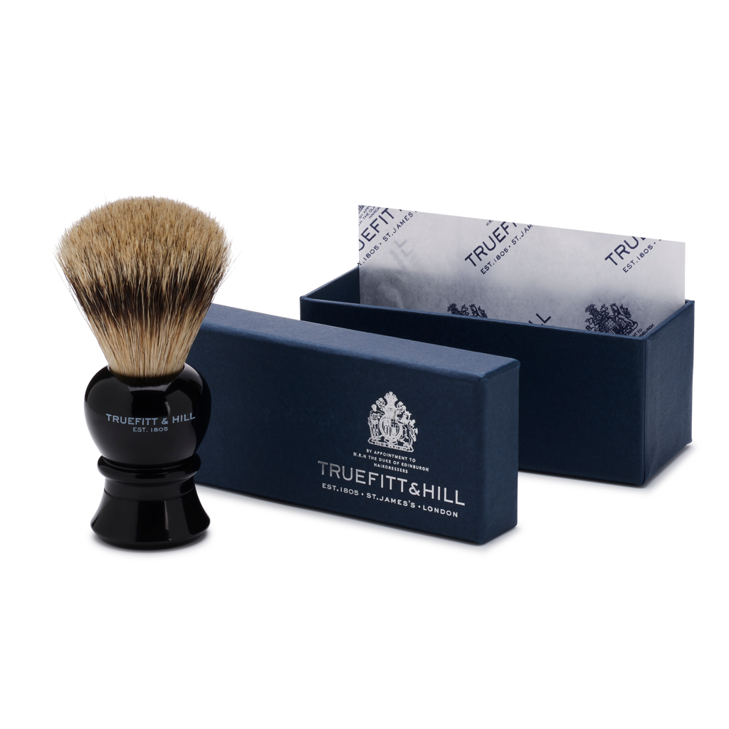 Faux Ebony Super Badger Shave Brush Regency with box.png