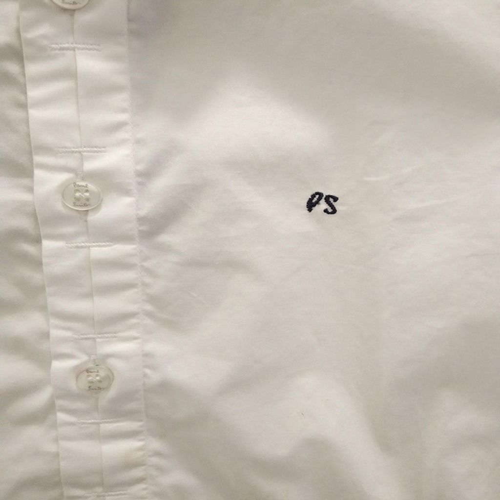 Paul Smith Junior - Boys Long Sleeve Shirt with Brand Embroidered - White 3133.JPG