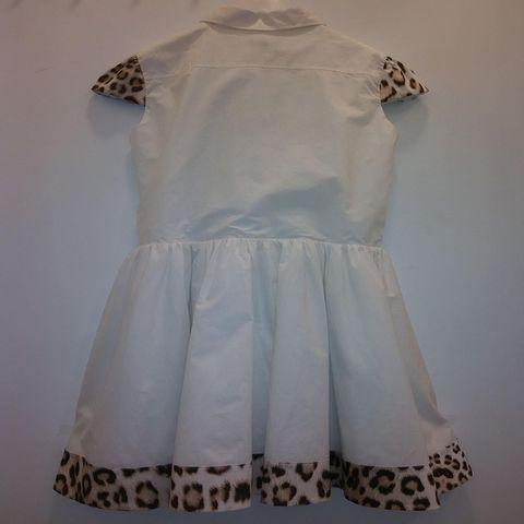 Roberto Cavalli - White Button Front Dress with Leopard print 2167.JPG