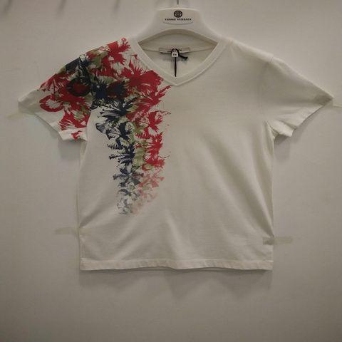 Junior Gaultier - Floral printed Short Sleeve Tee - White 1105.JPG
