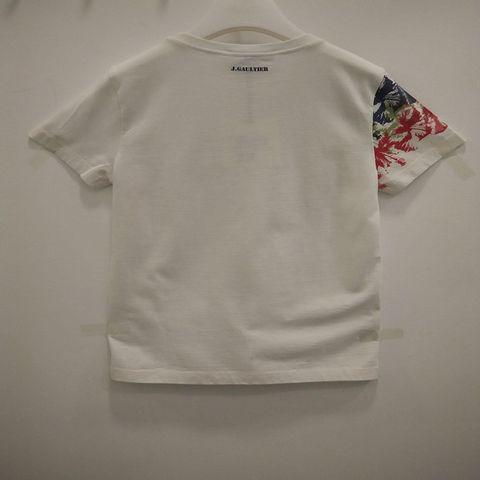 Junior Gaultier - Floral printed Short Sleeve Tee - White 2106.JPG