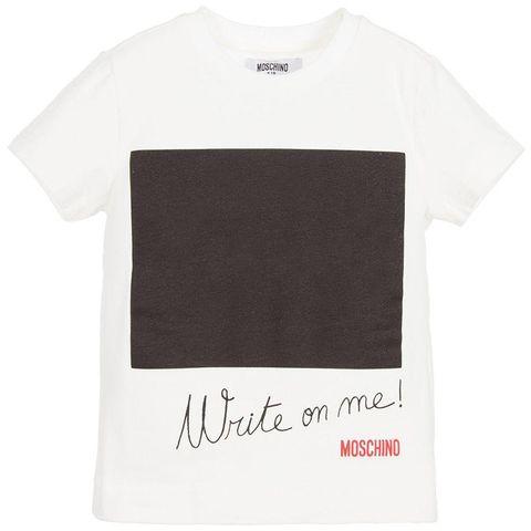 Moschino Teen - _Write on Me_ Tshirt - White 1112.JPG