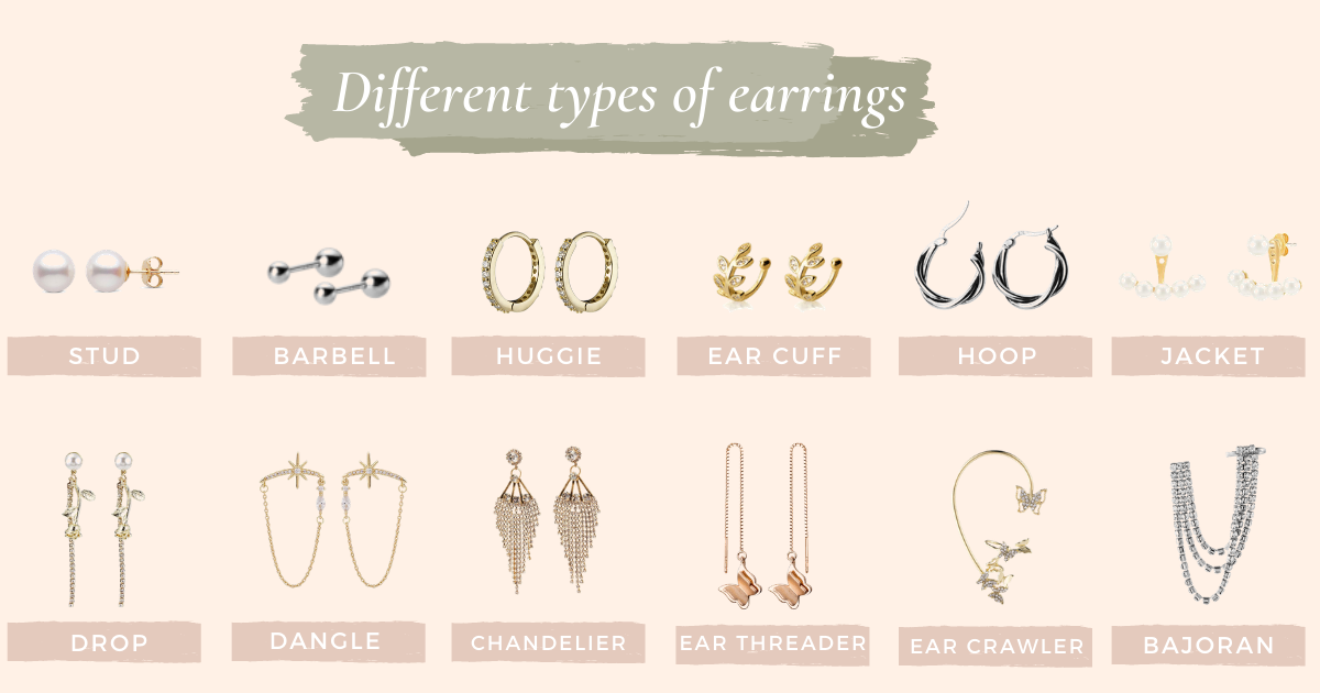 Getting to know different types of earrings & earring backs