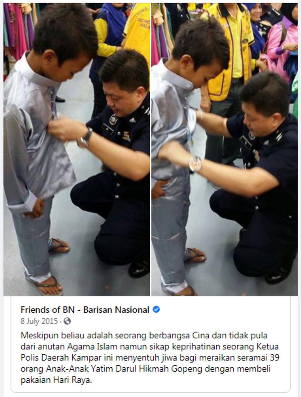 Sumbangan Baju Raya Oleh Pegawai-Pegawai IPD Kampar