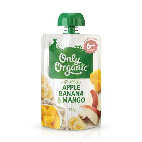 Only Organic Apple, Banana & Mango Smoothie 120G