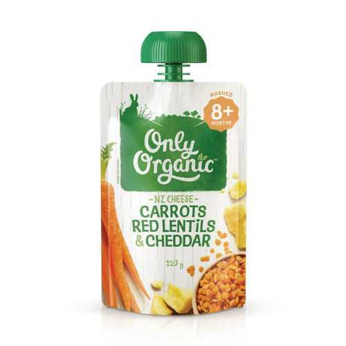 Only Organic Carrots Red Lentil & Cheddar 120g