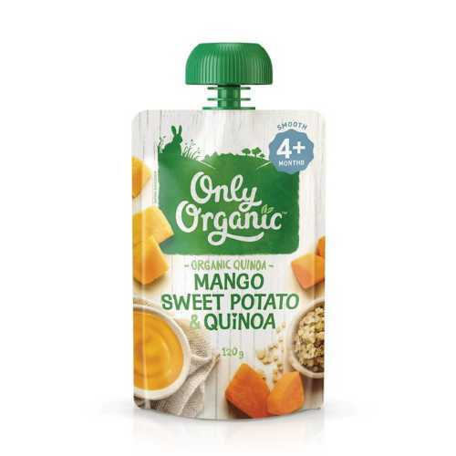 Only Organic Sweet Potato, Mango & Quinoa 120g