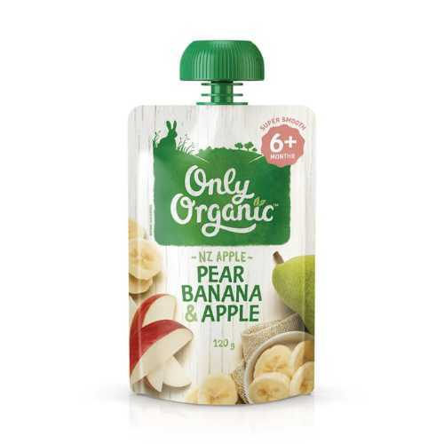 Only Organic Pear, Banana & Apple Smoothie 120g