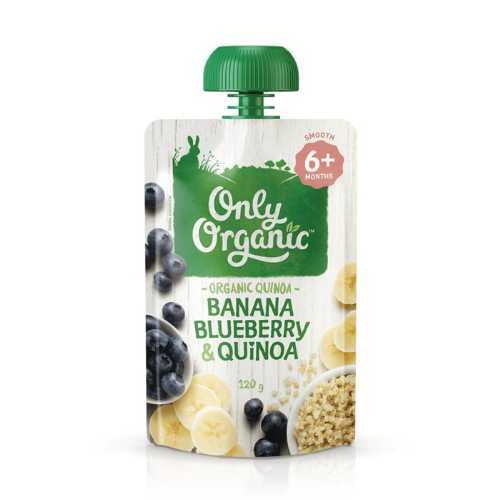 Only Organic Banana Blueberry & Quinoa smoothie 120g