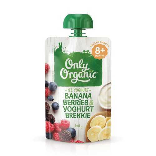 Only Organic Banana Berries & Yoghurt Smoothie 120g
