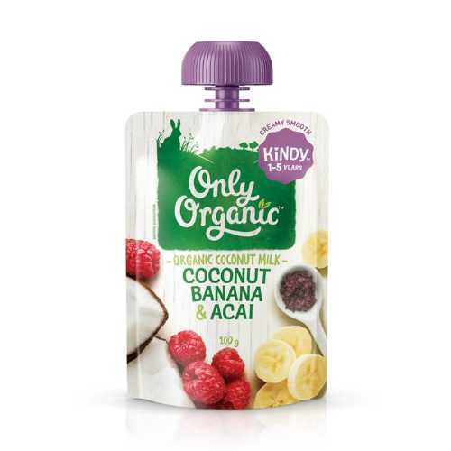 Only Organic Coconut Banana & Acai Smoothie 100g