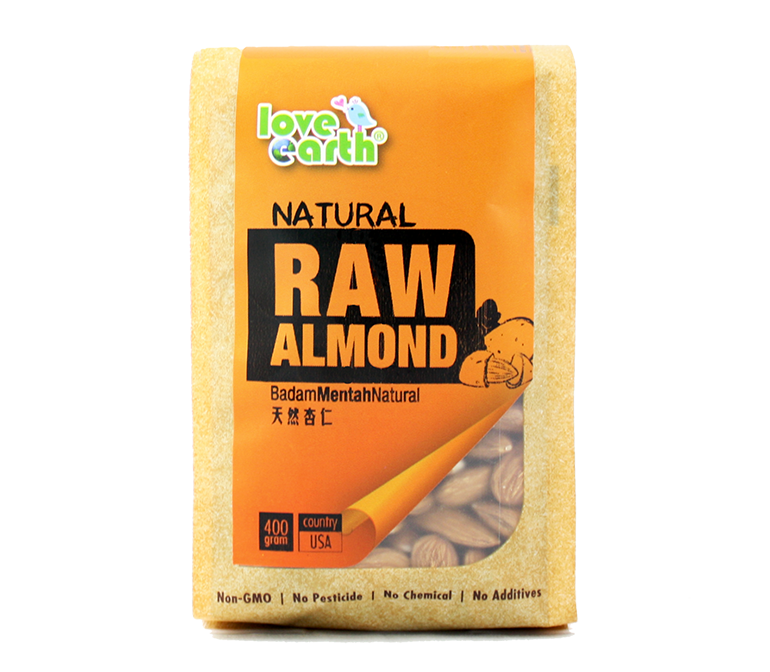 Love Earth Natural Almond Non-Roasted (400g)