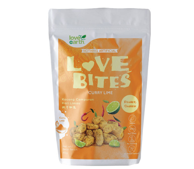 Love Earth Love Bites Curry Lime (40g)