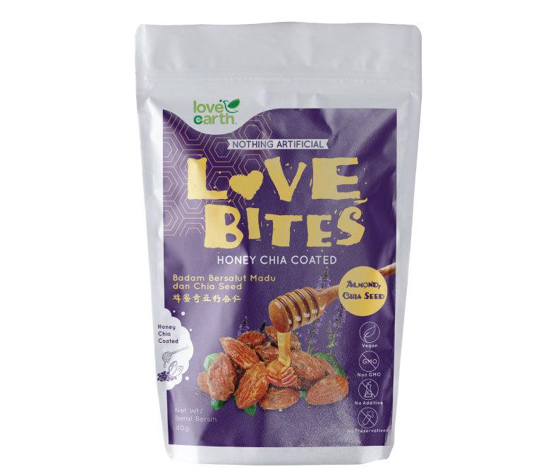 Love Earth Love Bites Honey Almond Chia Seed (40g)