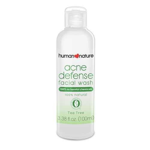 Human Nature 100% Natural Acne Defense Facial Wash (100ml)