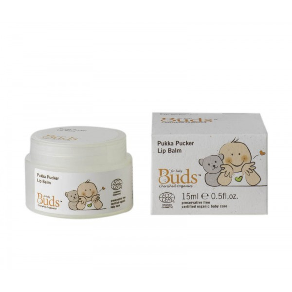 Buds Cherished Organics Pukka Pucker Lip Balm (15ml)