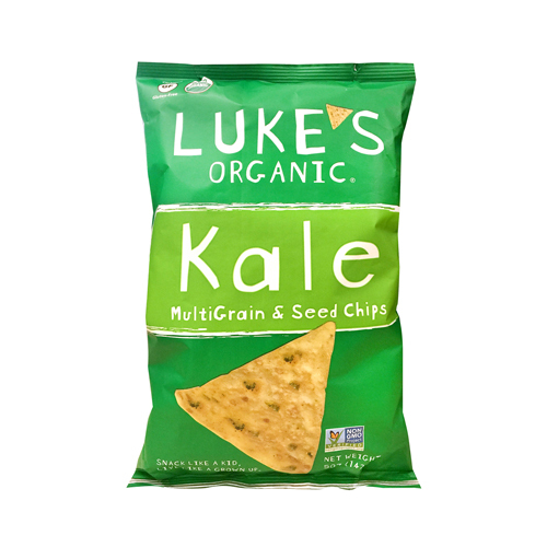 Luke's Organic Multi Grain & Seed Chips Kale, 5oz