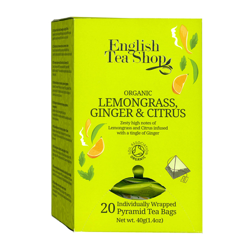 English Tea Shop Lemongrass, Ginger and Citrus (20 Pyramid Envelopes)