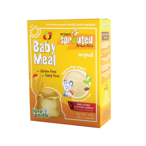 Love Earth Organic Sprouted Brown Rice Baby Meal - Original 120g