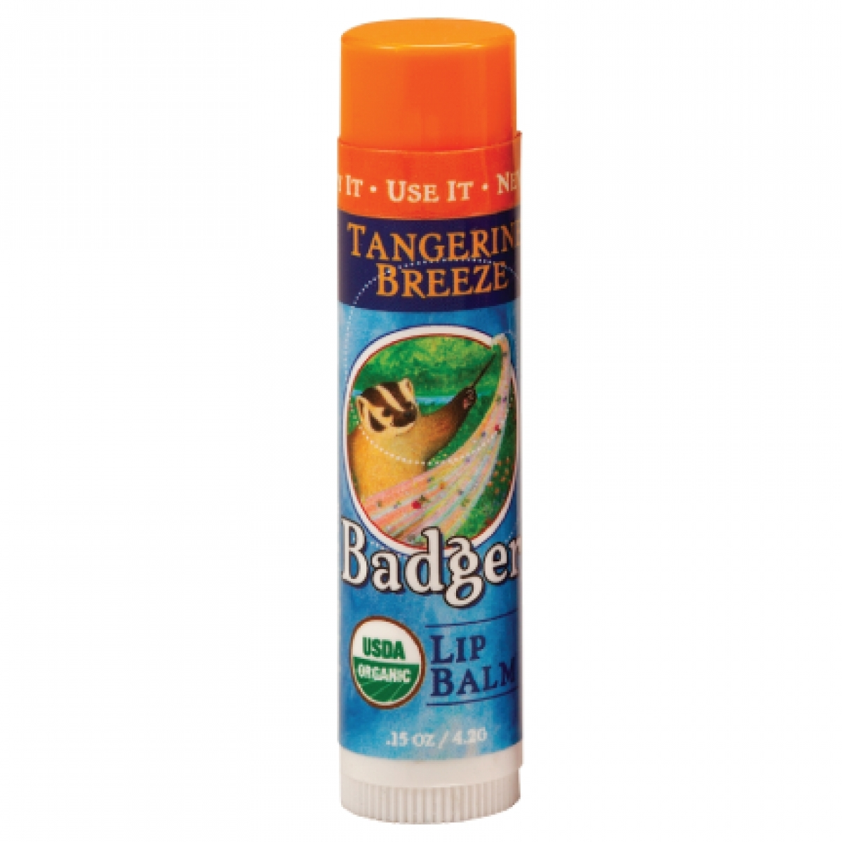 Badger Tangerine Breeze Lip Balm (0.15oz)