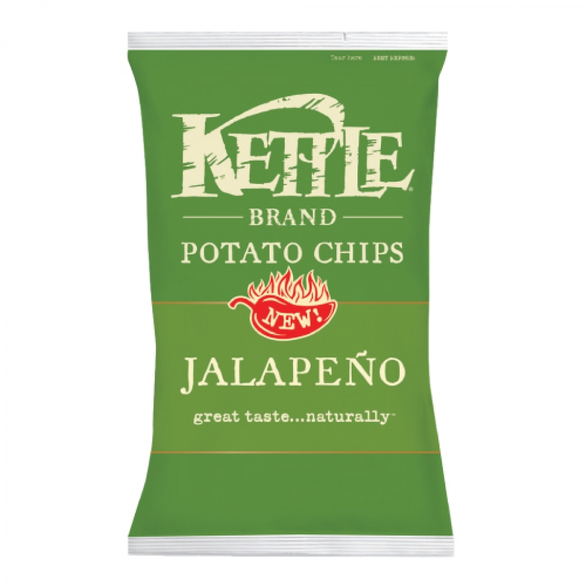 Kettle Brand All Natural Potato Chips – Jalapeno (Regular 5oz)