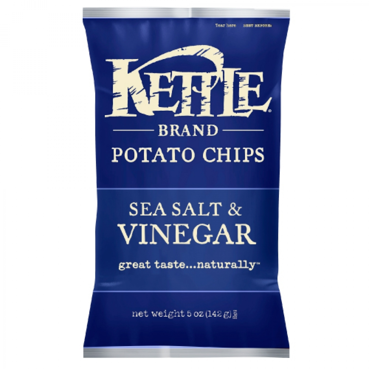 Kettle Brand All Natural Potato Chips – Sea Salt & Vinegar (Regular 5oz)