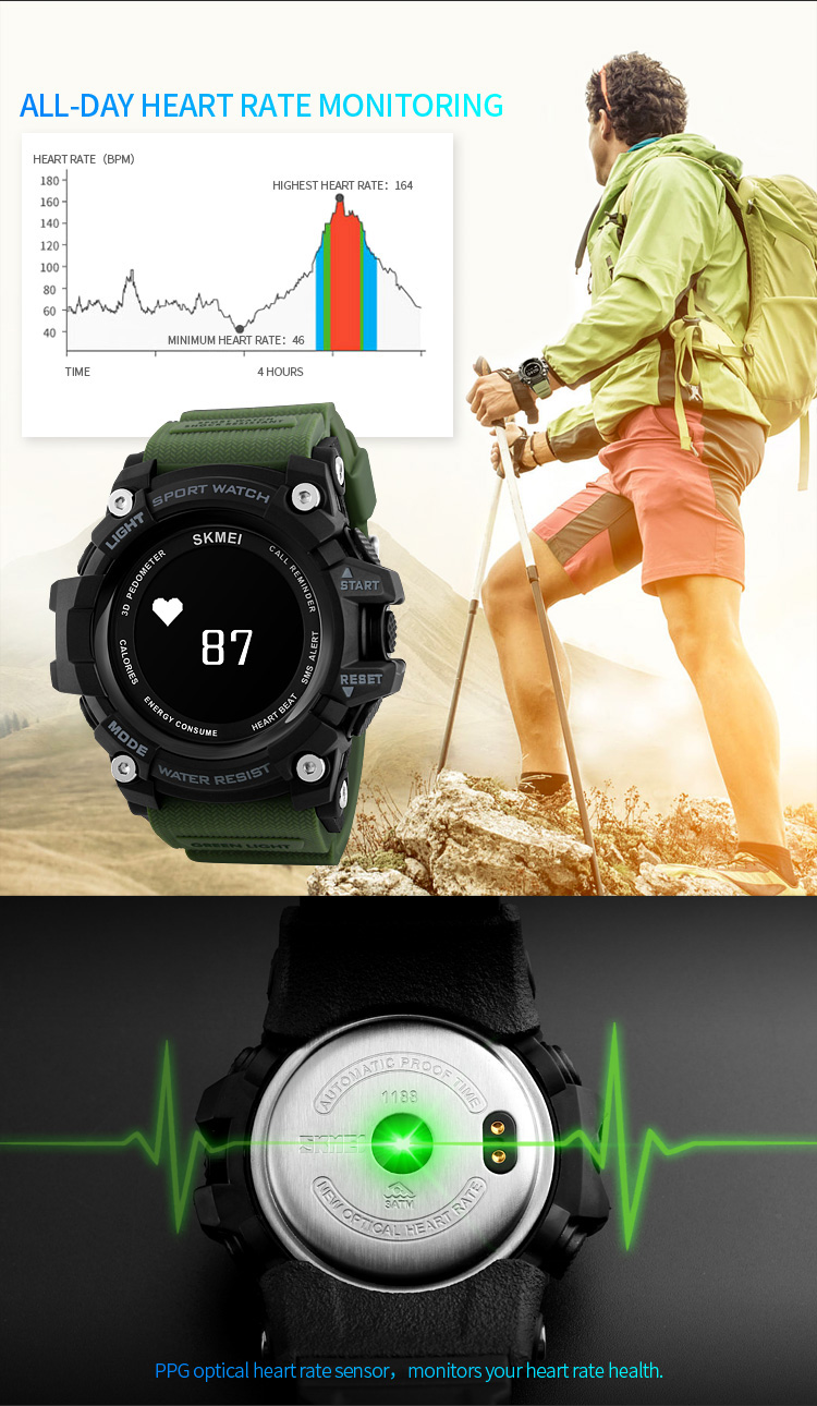 Wholesale China SKMEI 1188 multifunctional water proof men sport bluetooth smart watch 2017.jpg