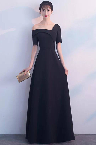 BUY NOW. Off One Shoulder Sleeve Long Evening Dress f87b4e239