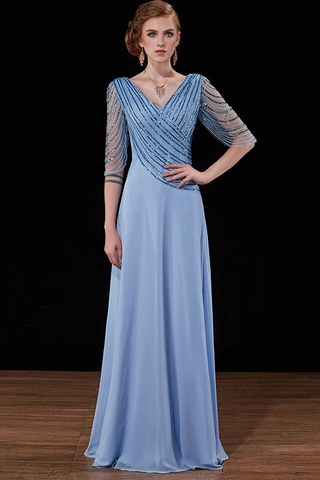 BUY NOW.  MTO  Elegant V Neck Sleeve Party Evening Gown cdfc15a9a