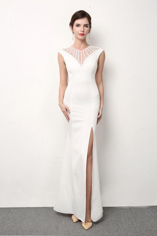 BUY NOW.  MTO  Elegant Beads Bodycon Evening Gown ... 0a935d6be