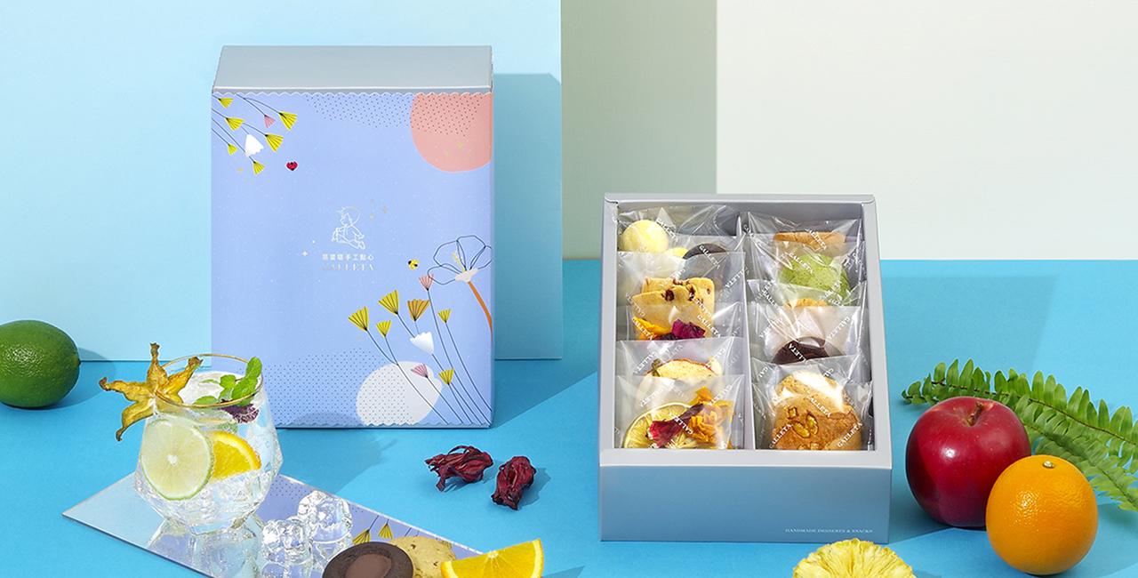 薄花藍禮盒