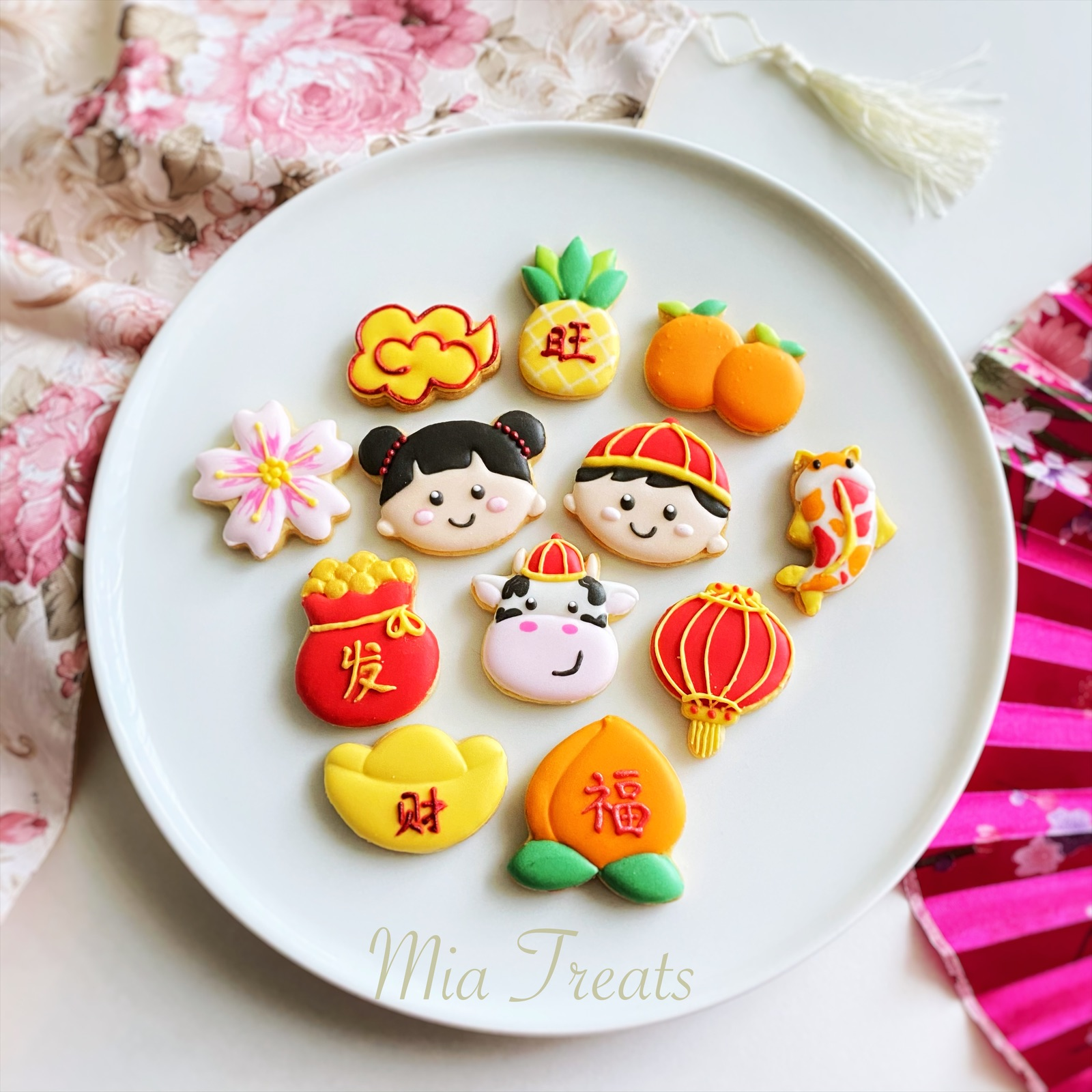 chinese new year cookies mia Cookier artist
