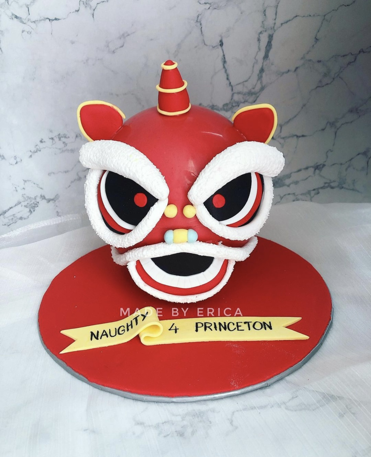 Made By Erica suprise lion head pinata cake