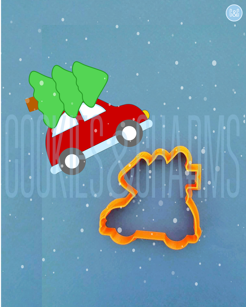 Christmas Tree Car Cutter and Embosser Set