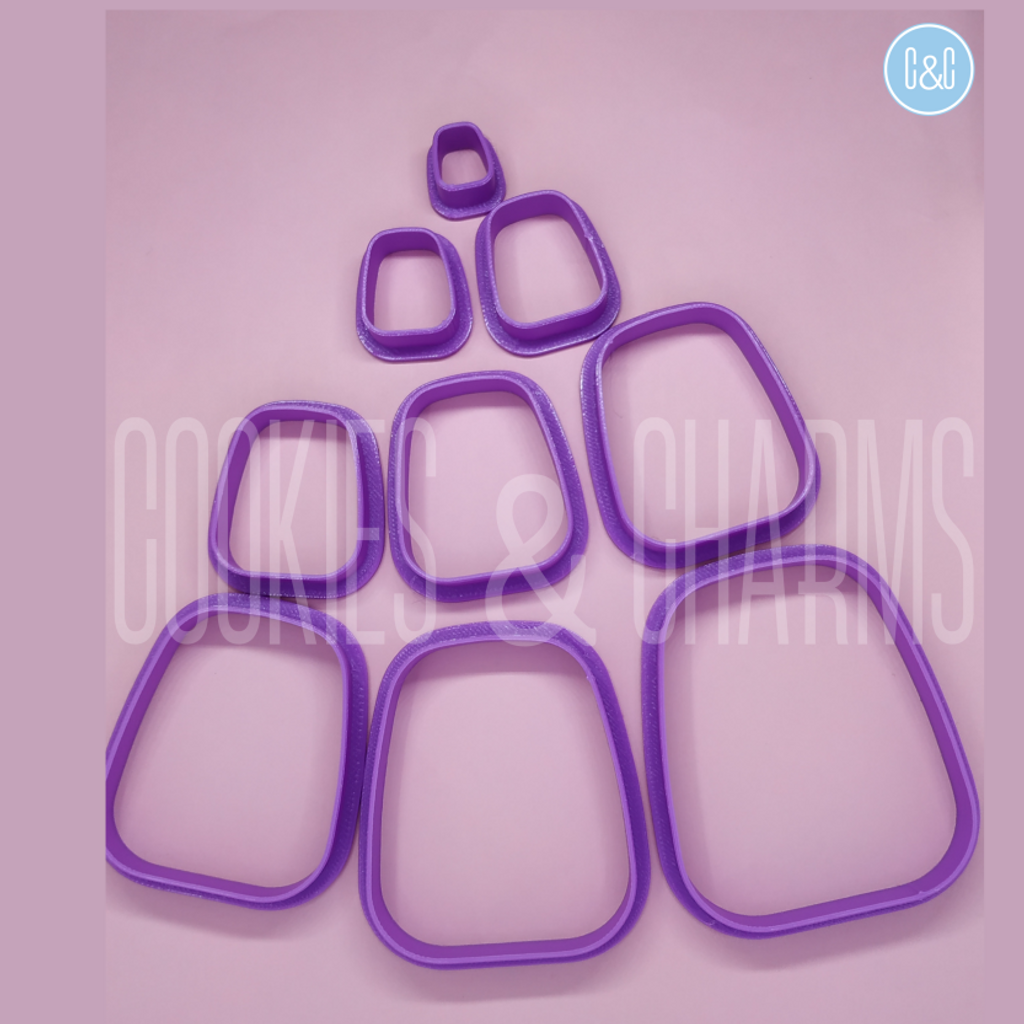 Fat Rounded Rectangle Clay Cutter