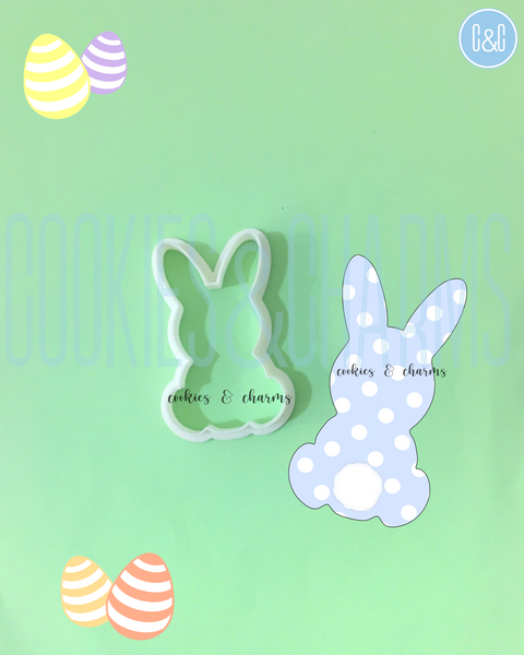 Bunny Silhouette Cutter by Cookies and Charms for Easter