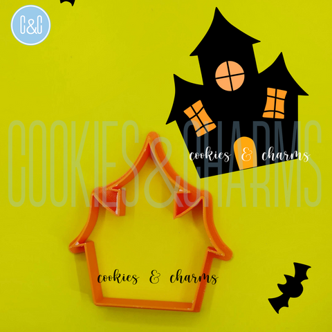Haunted House Cutter by cookies and charms