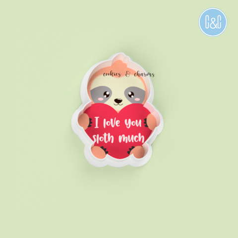 I Love You Sloth Much Cutter by Cookies and Charms Malaysia