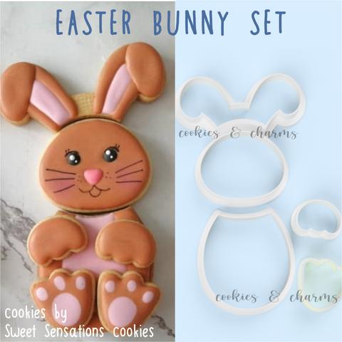 Easter bunny shape cutter set  Cutter Design by Sweet Sensations Cookies