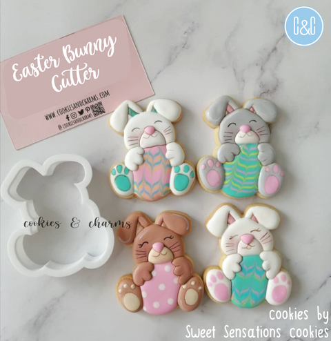 Easter bunny with Egg Cutter, Cookie sample by sweet sensations cookies