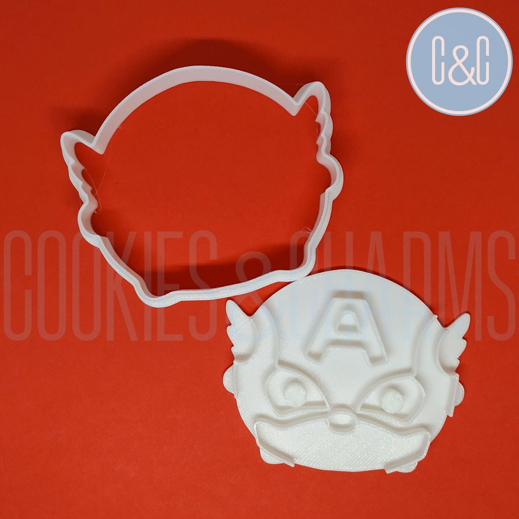 captain america Cookie Cutter and Embosser set