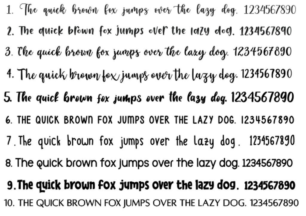 font choices for stencils by cookies and charms