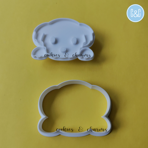 Maltese Dog cookie Cutter and Embosser options