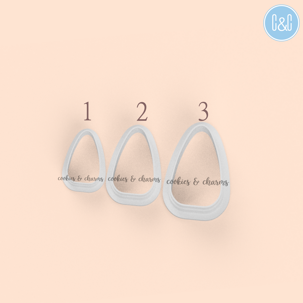Rounded Oval Clay Cutters comes with 3 different sizes